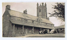 WIDECOMBE IN THE MOOR Old cars at St Pancras Church - Vintage Photo 1939