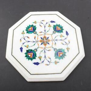 "12"" Marble side Table Top Stone Pietra dura Handmade Work Home Decor Decorative"