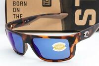 NEW COSTA DEL MAR MOTU SUNGLASSES Tortoise / Blue Mirror 580P Polarized lens