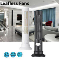 USB Mini Leafless Air Conditioner Desk Cooler Tower Fan Summer Cooling T