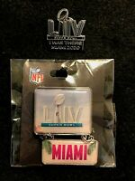 Set of 2 Super Bowl LIV Miami 2020 KC Chiefs SF 49ers Game Pins Licensed Items