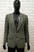 Giacca CERRUTI Uomo Taglia Size XS Maglia Blazer Jacket Shirt Man Lana a Quadri