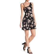 NWT Angie Fit & Flare Womens Floral Print Dress Asymmetrical NeckSZ Large 12/14