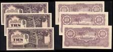 Netherlands Banknotes – Dutch Indies, 1942 Japanese Occupation WW II, 3-copies