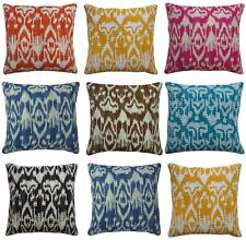 """Indian Handmade Kantha Stitch Cushion Cover Ikat Pattern Pillow Case Ethnic 16"""""""