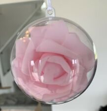 4 Pink Wedding/Christmas Baubles, Boxed Decoration