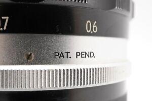 [RARE PAT. PEND. EXC+5] Nikon Nikkor-S Auto Non Ai 58mm 5.8cm f/1.4 Lens Japan