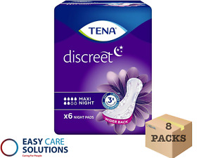 TENA Lady Maxi Night 8 Packs of 6 Disposable Pads For Bladder Weakness(Total 48)