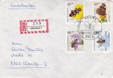 West Germany 1984 Pollinating Insects Set FDC Registered Mail VGC