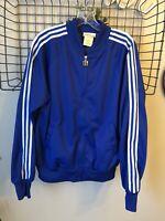 Vtg 80's Bonnie Sportswear California Blue White Stripe Track Jacket Size L