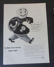 Original Print Ad 1948 Bell Telephone System Man   Vintage Art