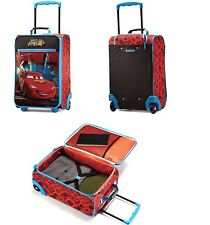 """new AMERICAN TOURISTER Disney Pixar CARS 18"""" Carry On Luggage Suitcase Wheels"""