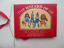 MINIATURE BOOK The Wizard of Oz by L. Frank Baum 1984 KURT S. ADLER INC. Denslow