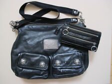 Black Poppy Coach Purse and Wallet