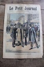 Petit journal illustré N°263 1895 Arrestation d'Arton Enrôlement volontaire 1792