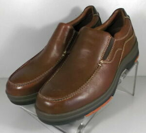 254150 SD45 Men's Shoes Size 9 M Brown Leather Slip On Johnston & Murphy