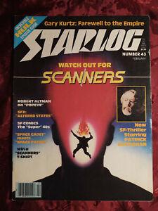 STARLOG February 1981 SCANNERS David Cronenberg GARY KURTZ POPEYE Jeannot Szwarc