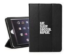 For Apple iPad 2 3 4 5 Air Mini Pro Leather Smart Case Eat Sleep Soccer Repeat
