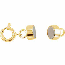 MAGNETIC CLASP  Converter YELLOW GOLD FILLED with Spring Ring 4.5mm US