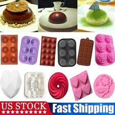 3D Half Sphere Ball Pudding Chocolate Mold Cake Decor Muffin Baking Pan Silicone
