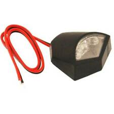 77204425 Luz Matrícula Placa Moto Para LED Homologado Negro Universal Fox