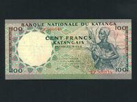 Katanga:P-12a,100 Francs,1962 * Picking Corn * EF *