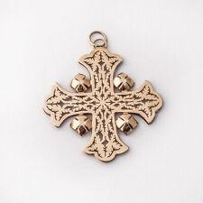 Hand Made Openwork Jerusalem Cross Pendant 14 K Gold