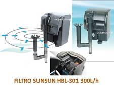 FILTRO MOCHILA 300l/h EXTERNO ACUARIO EXTERIOR CASCADA 2W CAUDAL REGULABLE