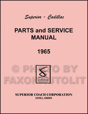 1965 Cadillac Superior Hearse and Ambulance Parts Book includes Flower Car