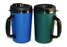 2 Foam Insulated 20 oz ThermoServ Mugs Blue & Green