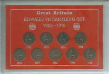 More details for 1902-1910 king edward vii farthings farthing gb coin gift set collection in case