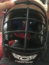 Cascade Cpv Lacrosse Helmet Xs-R Adjustable Spr Fit System White Black Cage Mll