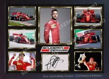 Sebastian Vettel Ferrari signed autograph photo poster print Framed -MDF