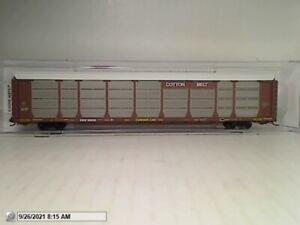 "MICRO TRAINS 11100390 ""COTTON BELT"" 89' REI-LEVEL CLOSED AUTO RACK MIB N SCALE"