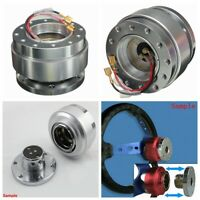 Universal Car Steering Wheel 6-Hole Quick Release Hub Adapter Snap Off Boss Kit