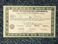1941 Boy Scout Of America Certificate