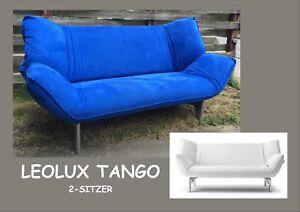 🐦🌼🐦Leolux Tango 2☀️💙☀️2-Sitzer 🐦 Designer Sofa☀️💙☀️leuchtendes Blau 🐦🌼🐦