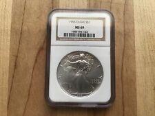 1995 1oz Silver American Eagle NGC MS69