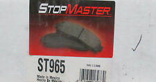 BRAND NEW STOP MASTER ST965 / D965 FRONT BRAKE PADS FITS VEHICLES LISTED