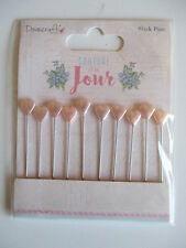 Dovecraft Couture Du Jour 10 Stick Pins with Hearts
