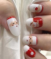 Christmas Santa color real nail polish strips Zz93 street art wraps