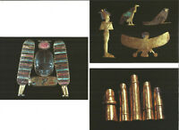 5 Gold Of The Pharaohs Exhibition Postcards Egyptian Archaeology Antiques P1631