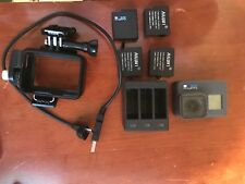 GoPro Hero 6 Black 4K Camera with 4 batteries, triple charger & ext pwr cable