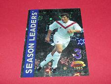 B.LIZARAZU SEASON LEADERS GIRONDINS DE BORDEAUX  PANINI FOOTBALL CARD 1994-1995