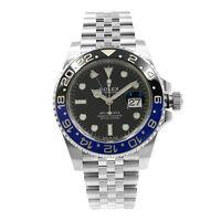 Rolex GMT-Master II Batman Ceramic Steel Jubilee Bracelet 2019 Watch 126710BLNR