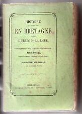 MEMOIRES DE JEAN MOREAU HISTOIRE BRETAGNE GUERRES DE LA LIGUE CORNOUAILLE 1857