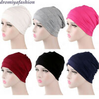 Ladies Turban Slouch Pleated Cotton Hat Cap Hair Loss Beanie Chemo Headscarf Cap