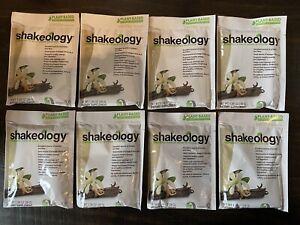 *Exp 3/2021!* (8) Single Packets Shakeology Vegan Vanilla Protein Powder 🤍