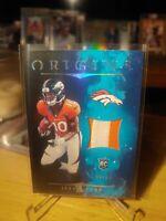2020 Origins Jerry Jeudy Rookie Patch Blue Parallel SSP 20/25 Denver Broncos...