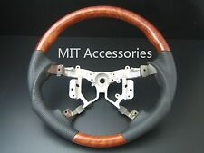 MIT Toyota CAMRY AURION 2006-2011 wood genuine leather steering wheel-SPORTS